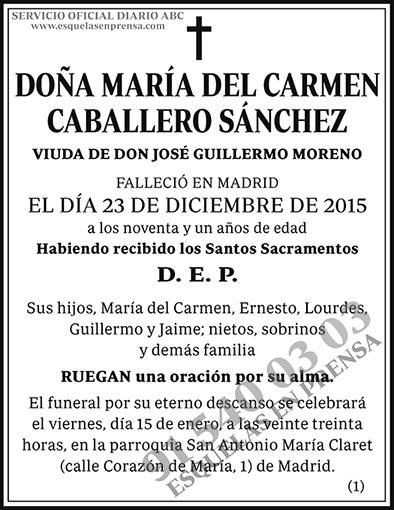 María del Carmen Caballero Sánchez